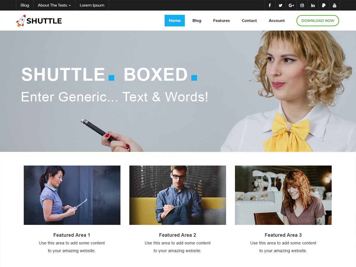 Shuttle Boxed Preview Wordpress Theme - Rating, Reviews, Preview, Demo & Download