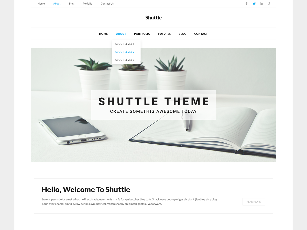 Shuttle Corporate Preview Wordpress Theme - Rating, Reviews, Preview, Demo & Download