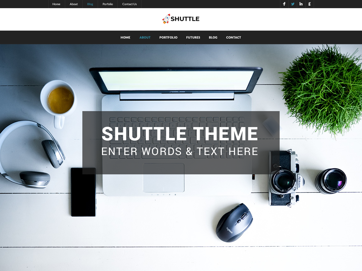 Shuttle Dark Preview Wordpress Theme - Rating, Reviews, Preview, Demo & Download