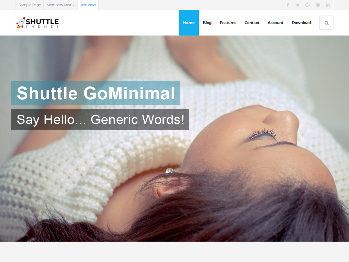 Shuttle GoMinimal Preview Wordpress Theme - Rating, Reviews, Preview, Demo & Download
