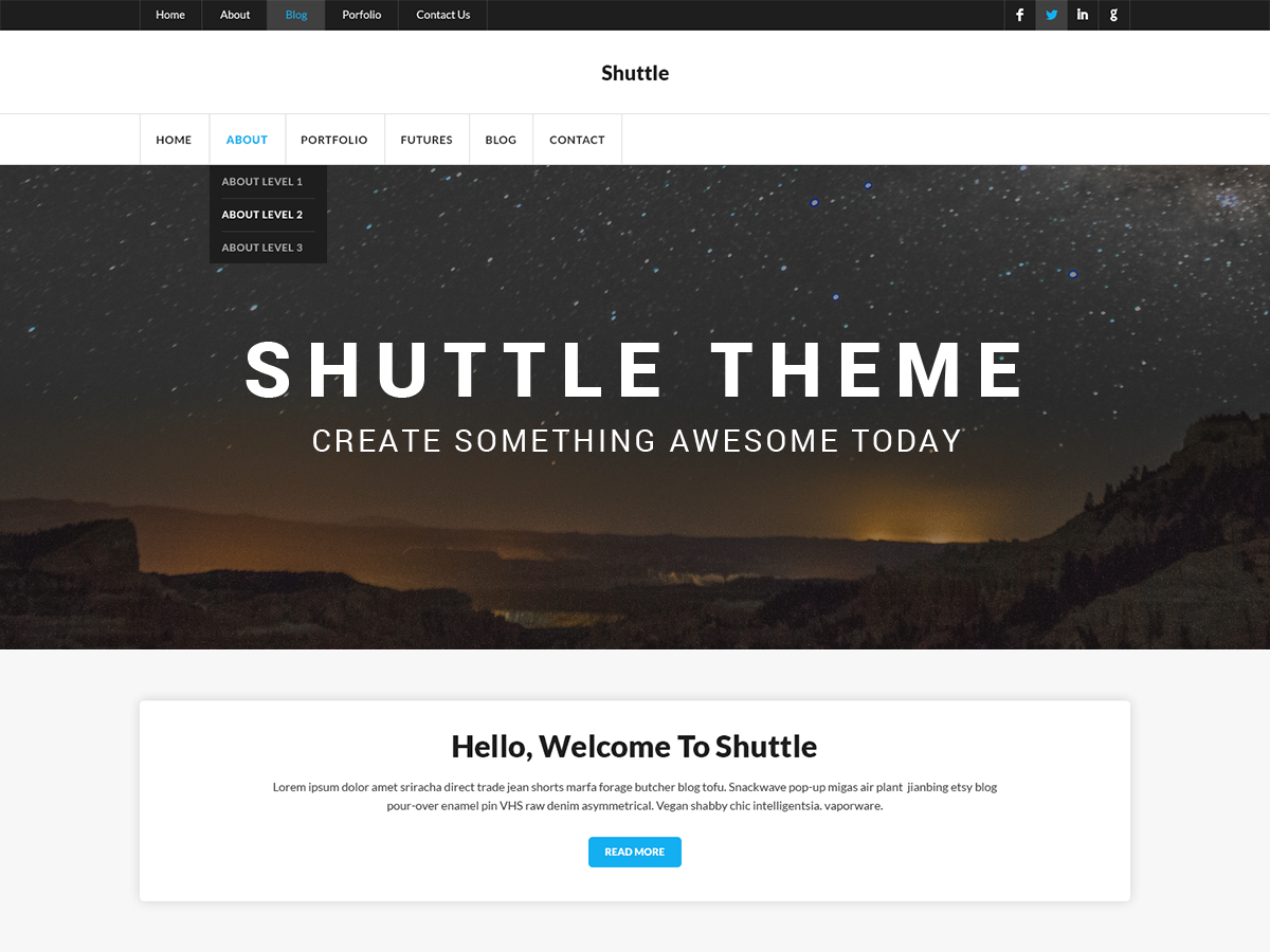 Shuttle ICorporate Preview Wordpress Theme - Rating, Reviews, Preview, Demo & Download