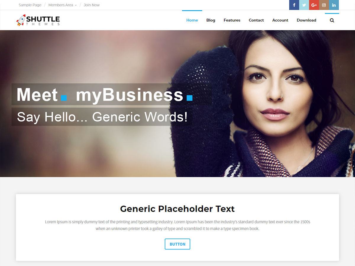 Shuttle MyBusiness Preview Wordpress Theme - Rating, Reviews, Preview, Demo & Download