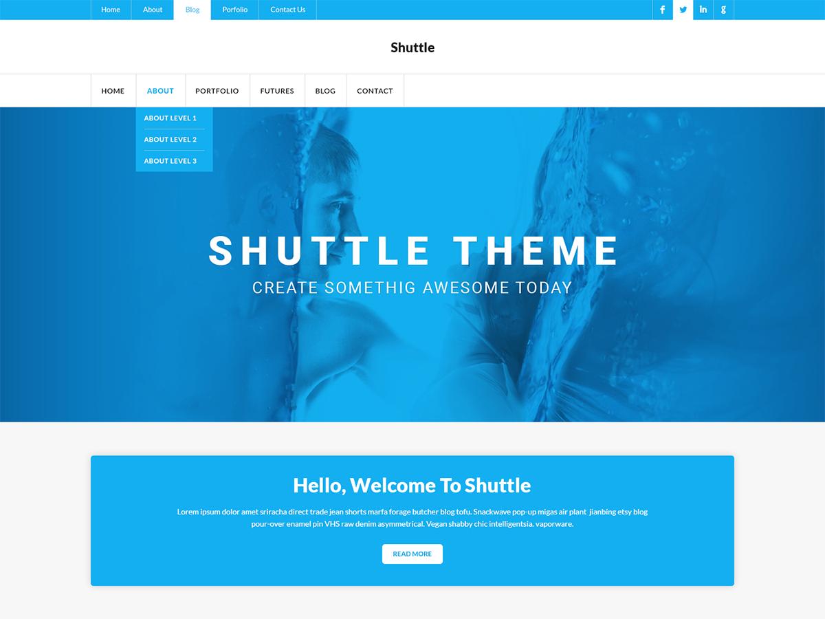 Shuttle MyNews Preview Wordpress Theme - Rating, Reviews, Preview, Demo & Download