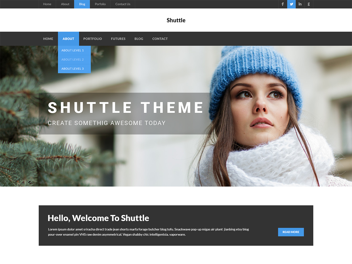 Shuttle News Preview Wordpress Theme - Rating, Reviews, Preview, Demo & Download