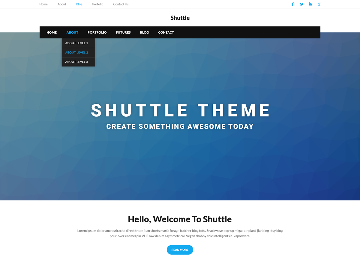 Shuttle Portfolio Preview Wordpress Theme - Rating, Reviews, Preview, Demo & Download