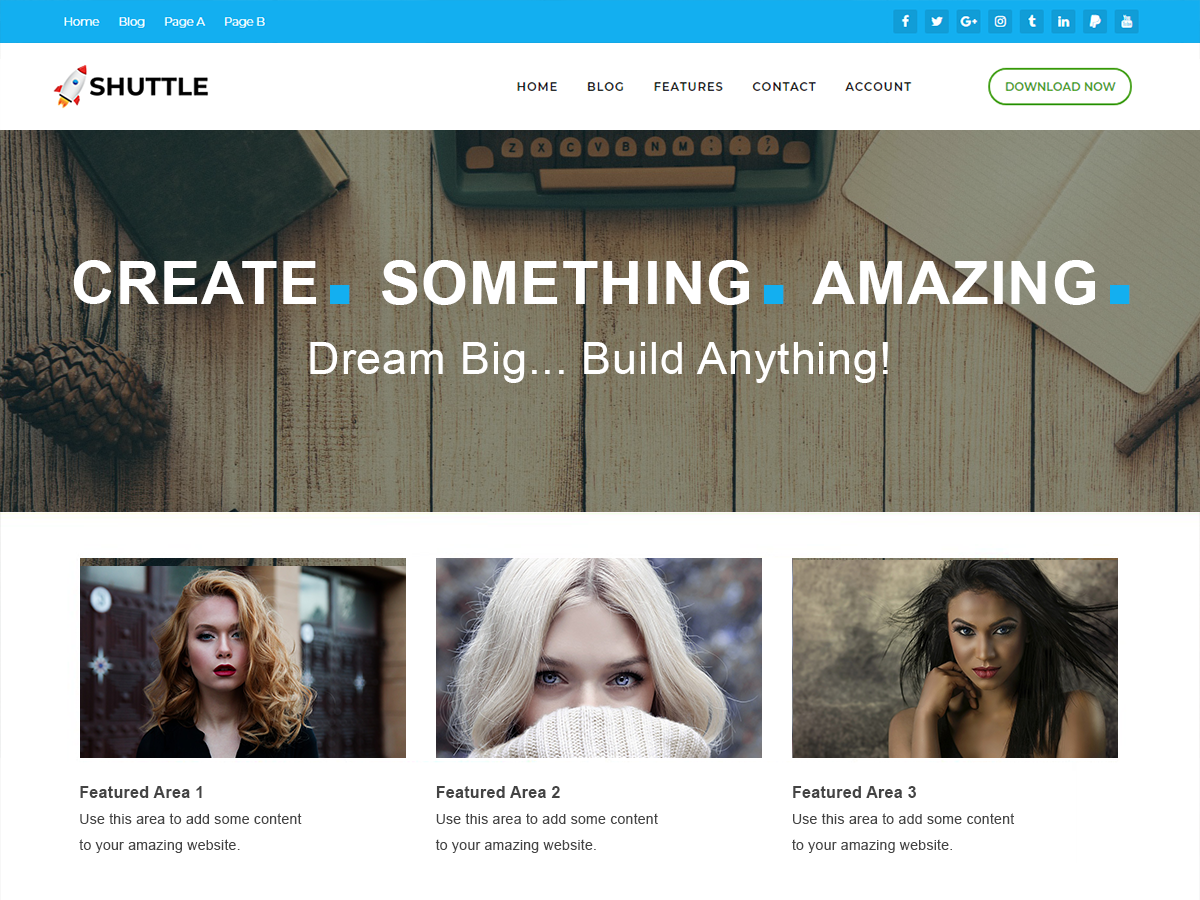 Shuttle PureBusiness Preview Wordpress Theme - Rating, Reviews, Preview, Demo & Download