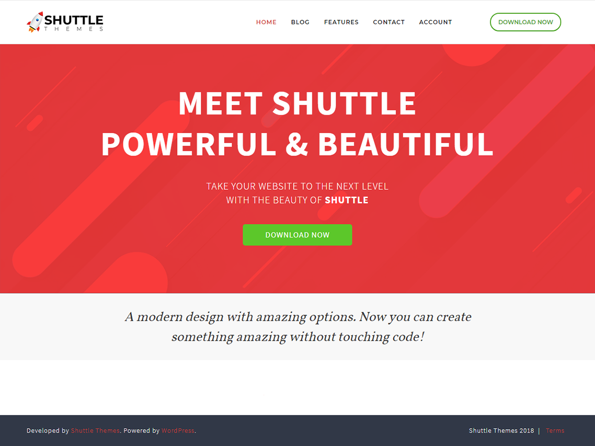 Shuttle Red Preview Wordpress Theme - Rating, Reviews, Preview, Demo & Download