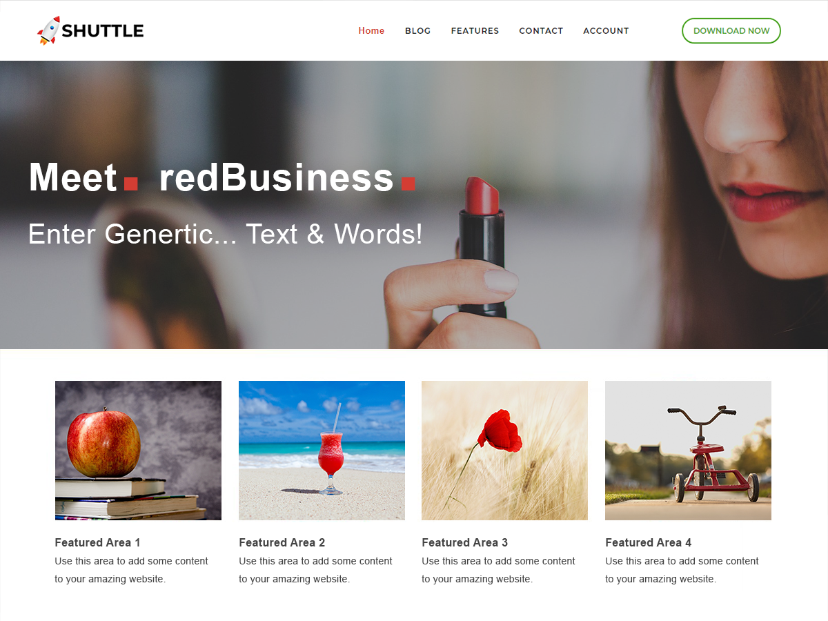 Shuttle RedBusiness Preview Wordpress Theme - Rating, Reviews, Preview, Demo & Download