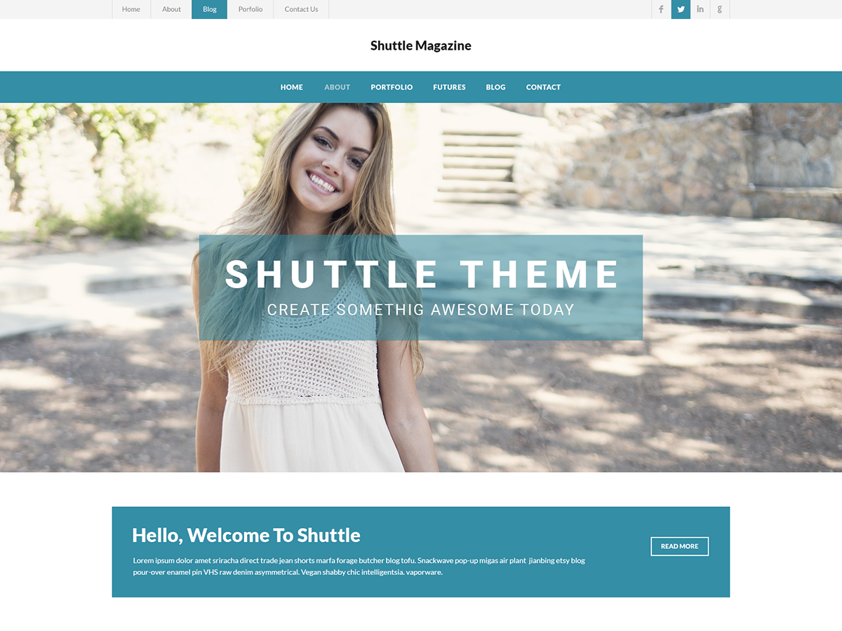 Shuttle WeMagazine Preview Wordpress Theme - Rating, Reviews, Preview, Demo & Download