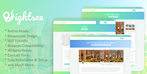 Sightsee Preview Wordpress Theme - Rating, Reviews, Preview, Demo & Download
