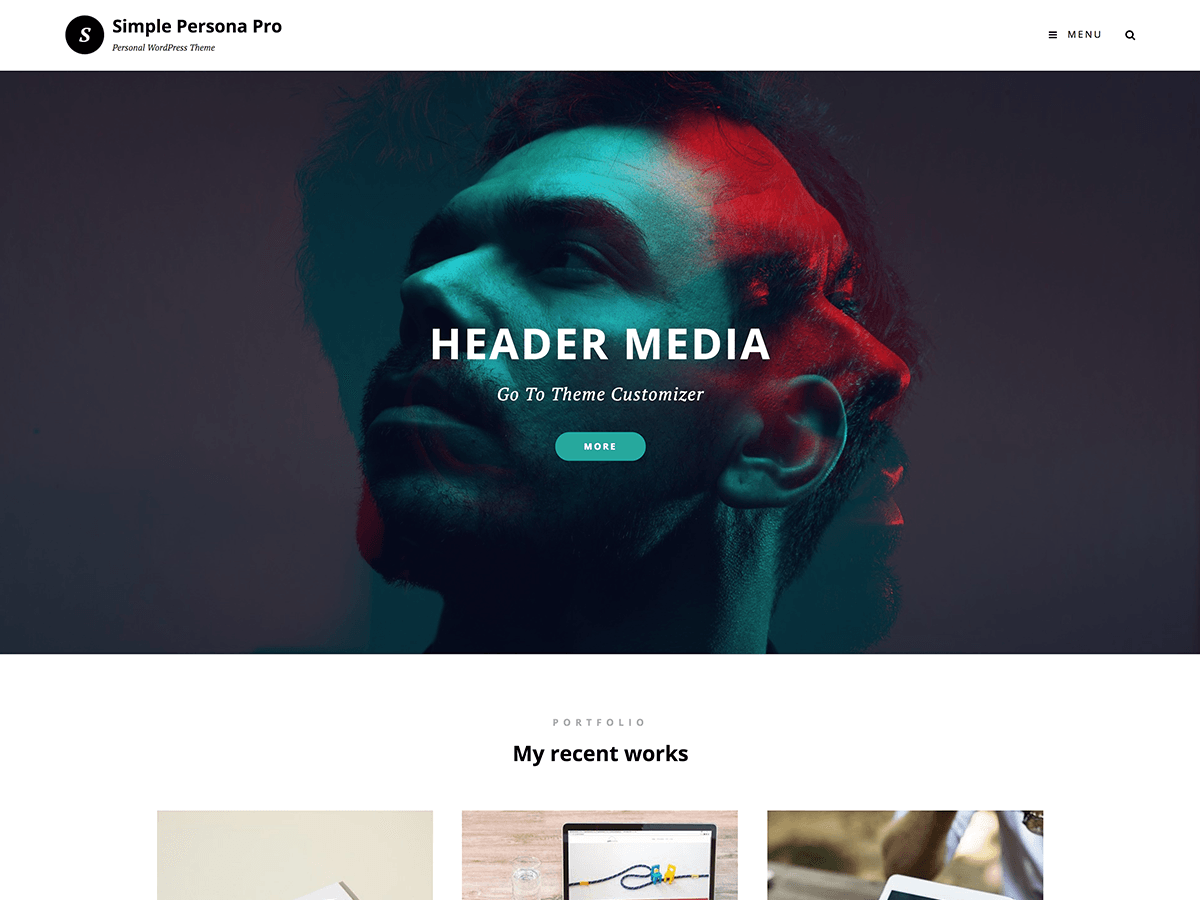 Simple Persona Preview Wordpress Theme - Rating, Reviews, Preview, Demo & Download