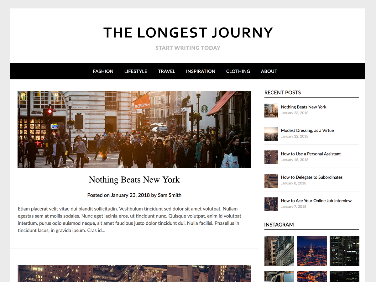 Simple ResponsiveBlogily Preview Wordpress Theme - Rating, Reviews, Preview, Demo & Download