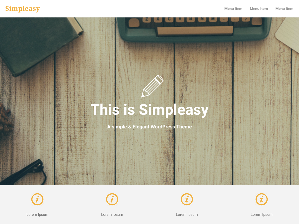 Simpleasy Preview Wordpress Theme - Rating, Reviews, Preview, Demo & Download