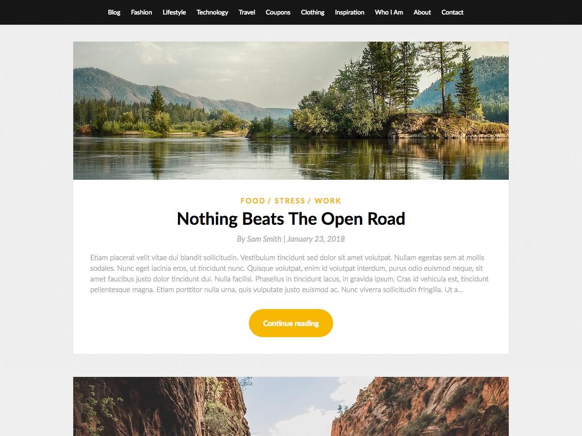 SimpleBlogily Preview Wordpress Theme - Rating, Reviews, Preview, Demo & Download