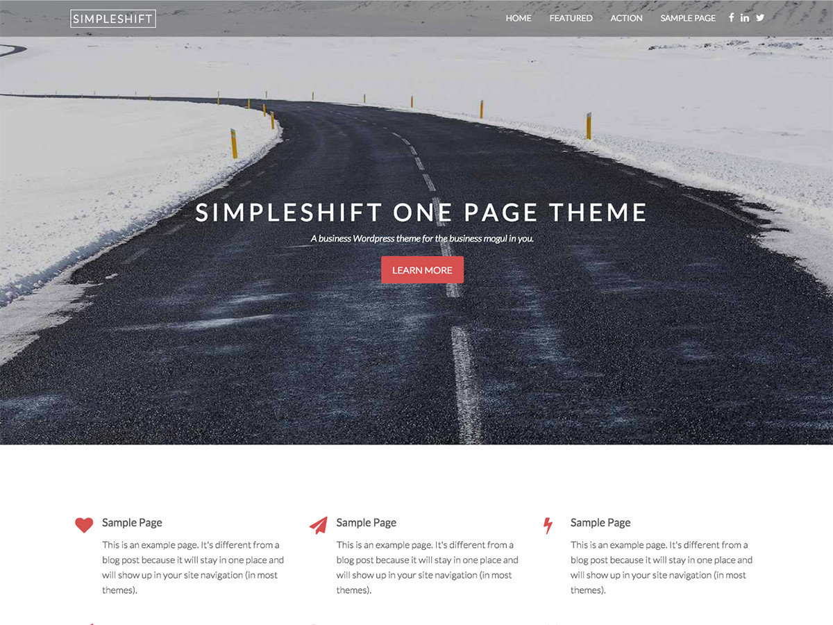 SimpleShift Preview Wordpress Theme - Rating, Reviews, Preview, Demo & Download
