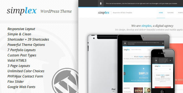 Simplex Preview Wordpress Theme - Rating, Reviews, Preview, Demo & Download