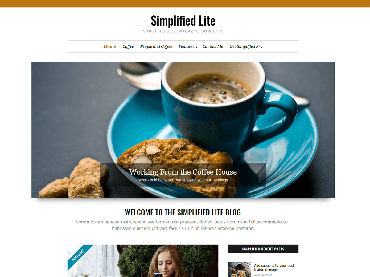 Simplified Lite Preview Wordpress Theme - Rating, Reviews, Preview, Demo & Download