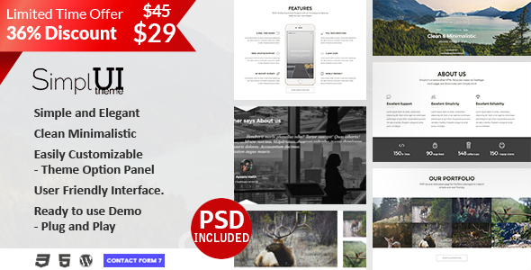 SimplUI Preview Wordpress Theme - Rating, Reviews, Preview, Demo & Download