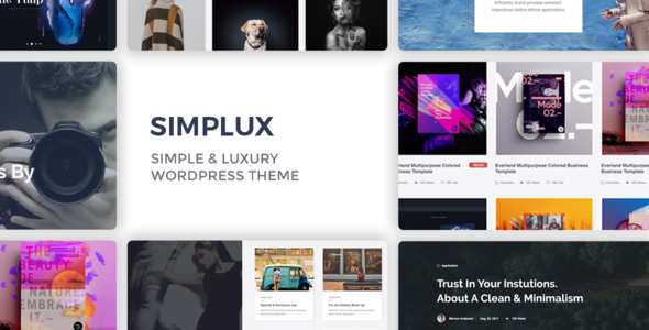 Simplux Preview Wordpress Theme - Rating, Reviews, Preview, Demo & Download