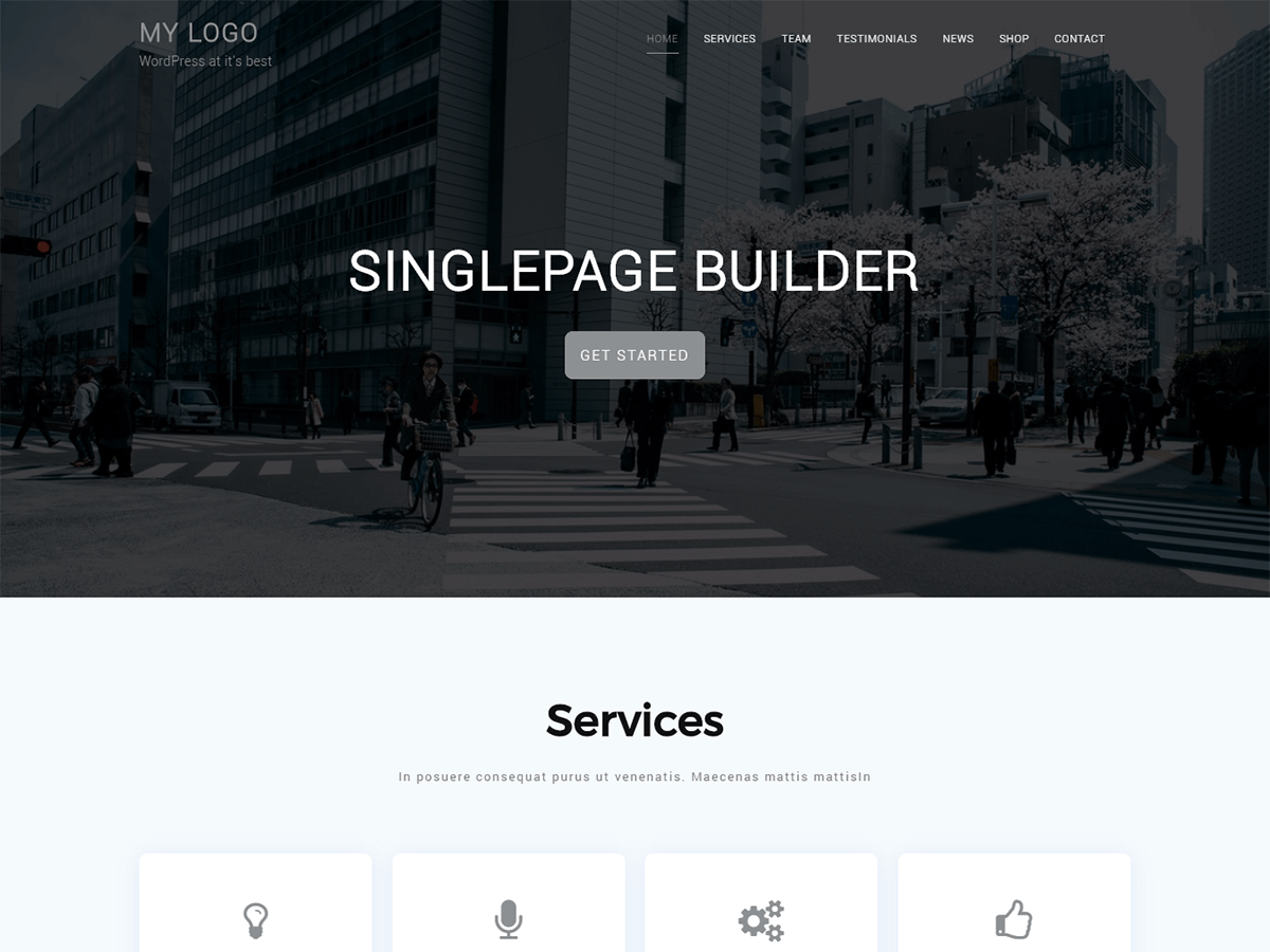 Singlepage Builder Preview Wordpress Theme - Rating, Reviews, Preview, Demo & Download