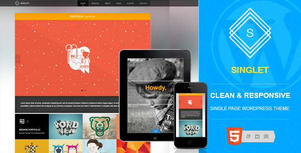 Singlet Preview Wordpress Theme - Rating, Reviews, Preview, Demo & Download