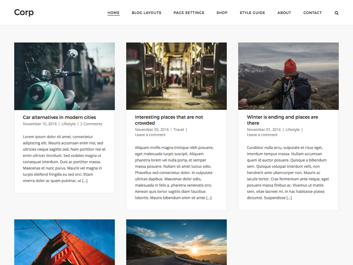 SiteOrigin Corp Preview Wordpress Theme - Rating, Reviews, Preview, Demo & Download