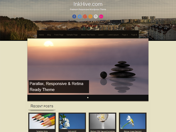Sixteen Preview Wordpress Theme - Rating, Reviews, Preview, Demo & Download