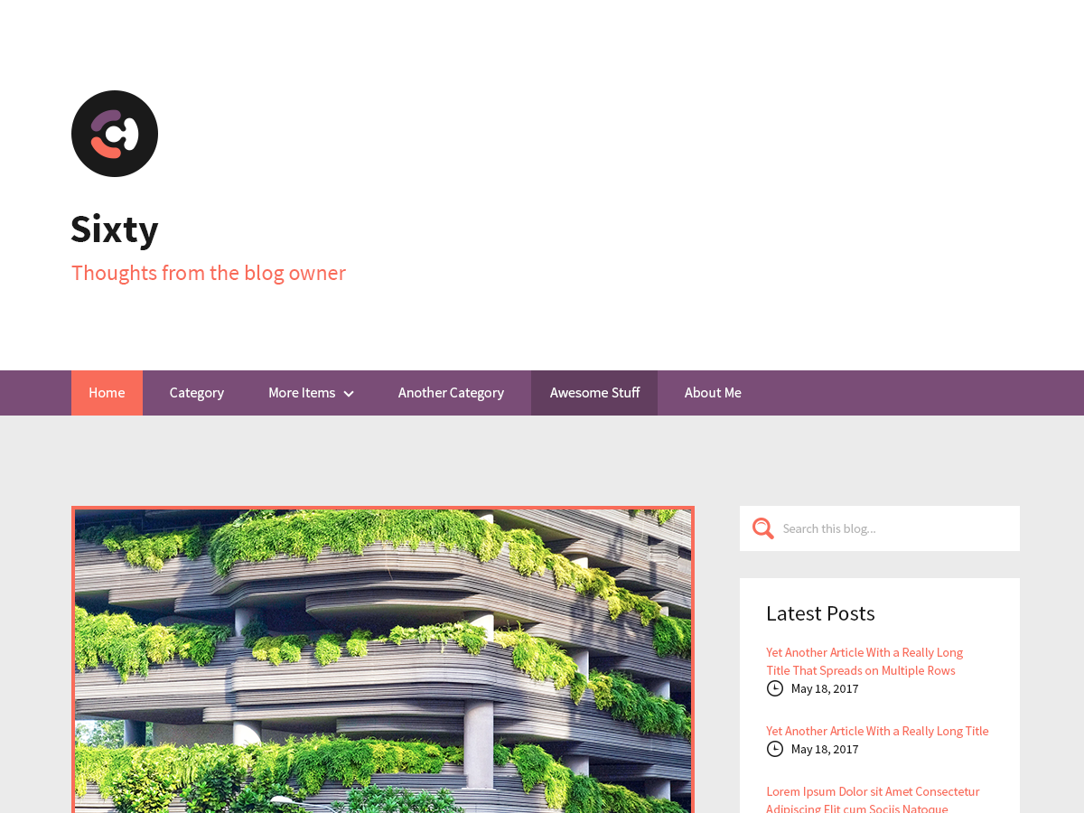 Sixty Preview Wordpress Theme - Rating, Reviews, Preview, Demo & Download