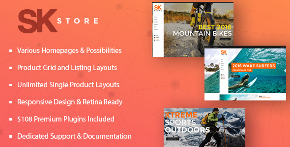 SK Store Preview Wordpress Theme - Rating, Reviews, Preview, Demo & Download