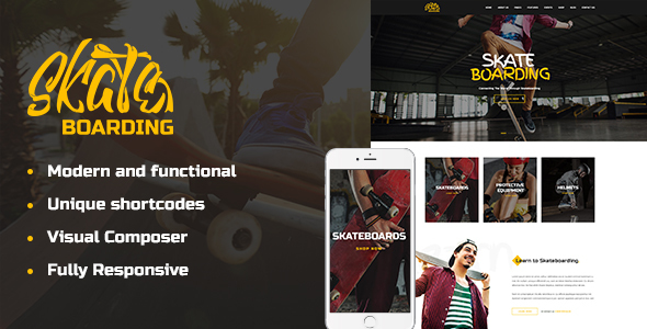 Skateboarding Community Preview Wordpress Theme - Rating, Reviews, Preview, Demo & Download