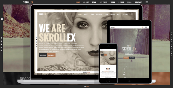 Skrollex Preview Wordpress Theme - Rating, Reviews, Preview, Demo & Download