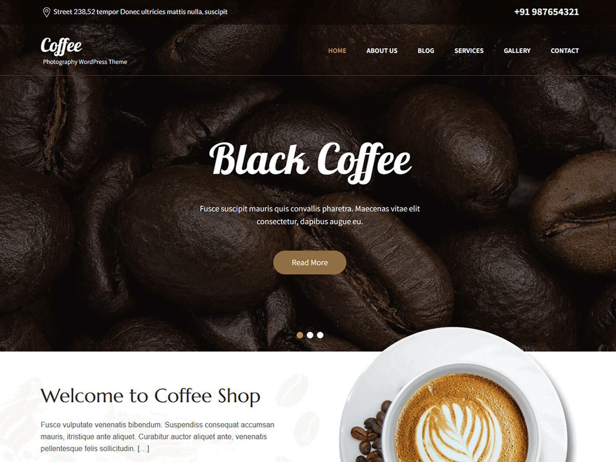 SKT Cafe Preview Wordpress Theme - Rating, Reviews, Preview, Demo & Download