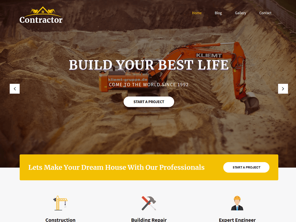 SKT Contractor Preview Wordpress Theme - Rating, Reviews, Preview, Demo & Download