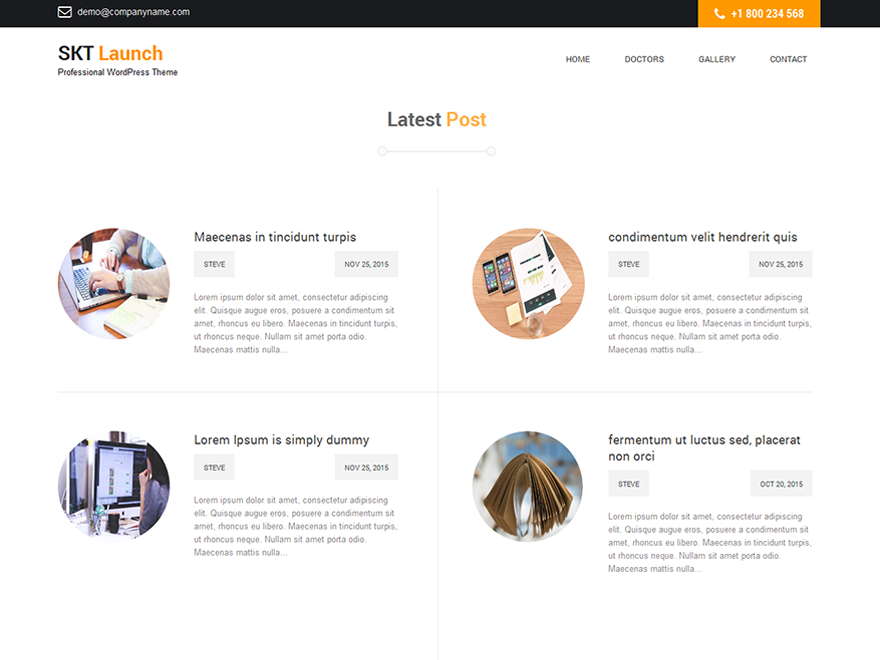 SKT Launch Preview Wordpress Theme - Rating, Reviews, Preview, Demo & Download