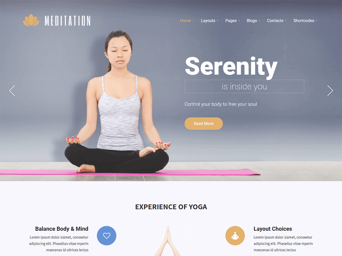 SKT Meditation Preview Wordpress Theme - Rating, Reviews, Preview, Demo & Download
