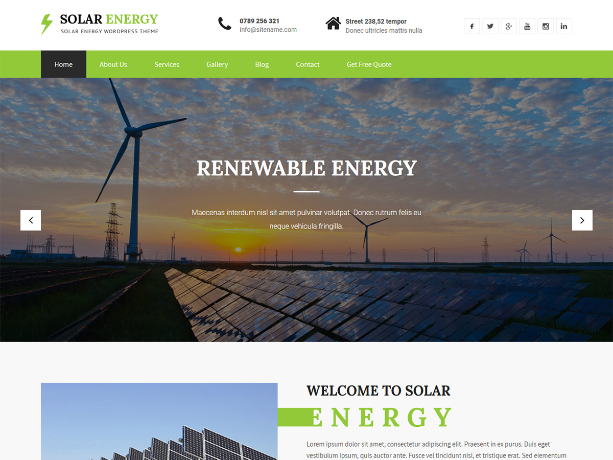 SKT Solar Preview Wordpress Theme - Rating, Reviews, Preview, Demo & Download