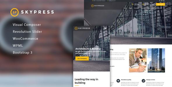 SkyPress Preview Wordpress Theme - Rating, Reviews, Preview, Demo & Download