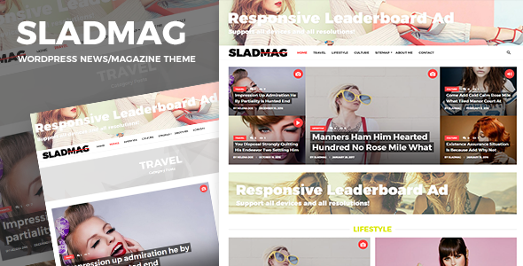 Sladmag Preview Wordpress Theme - Rating, Reviews, Preview, Demo & Download