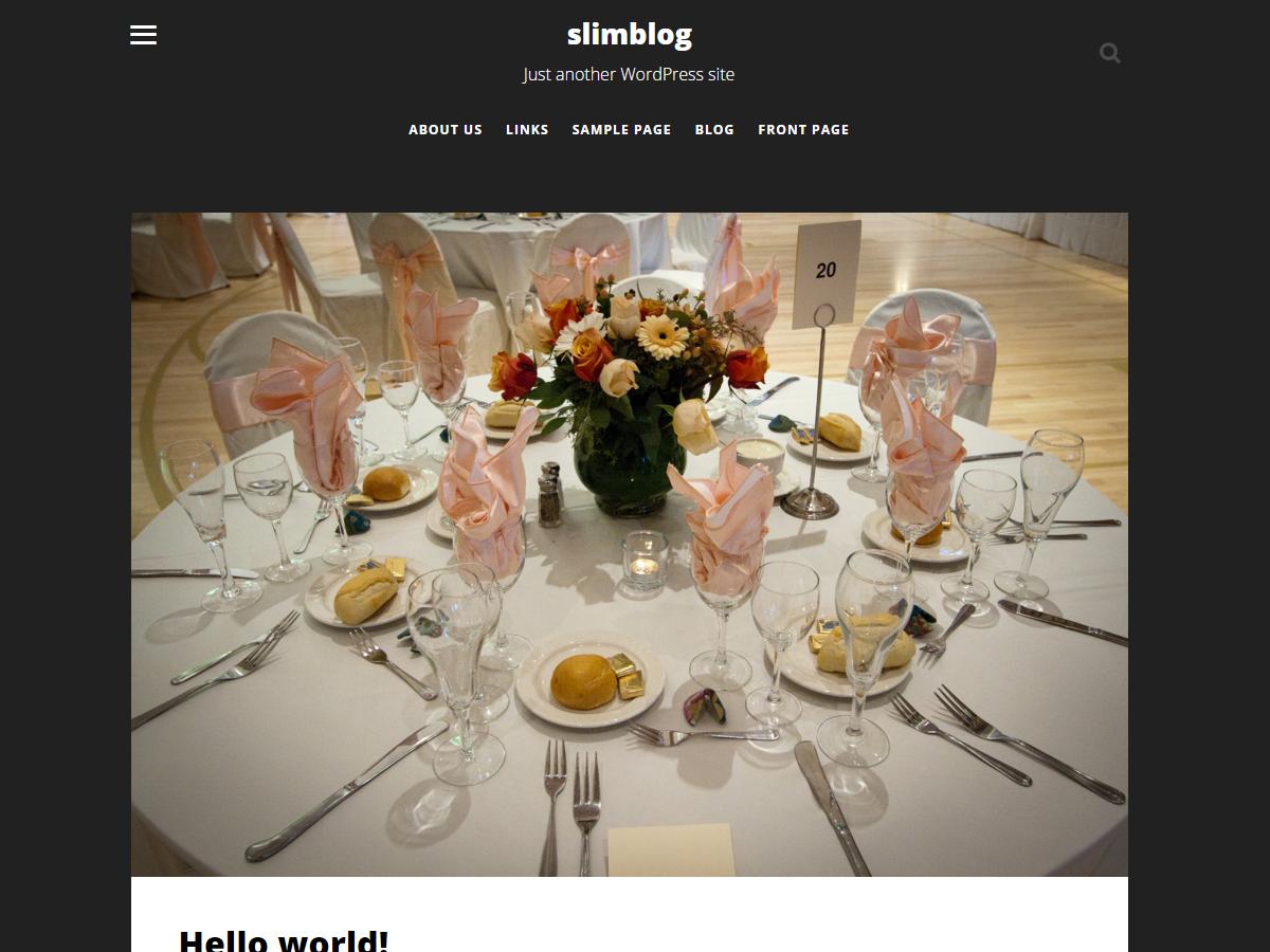 Slimblog Preview Wordpress Theme - Rating, Reviews, Preview, Demo & Download