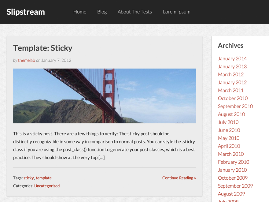 Slipstream Preview Wordpress Theme - Rating, Reviews, Preview, Demo & Download