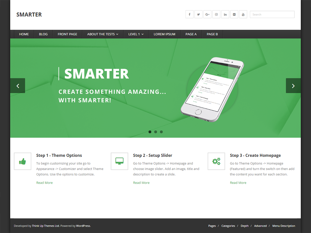 Smarter Preview Wordpress Theme - Rating, Reviews, Preview, Demo & Download