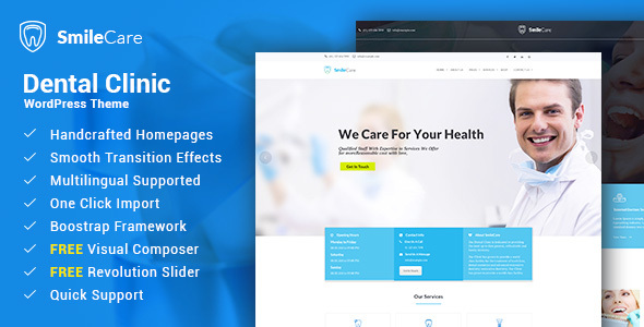 Smilecare Preview Wordpress Theme - Rating, Reviews, Preview, Demo & Download