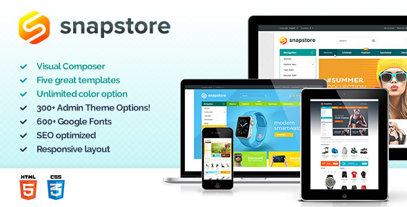 Snapstore Preview Wordpress Theme - Rating, Reviews, Preview, Demo & Download