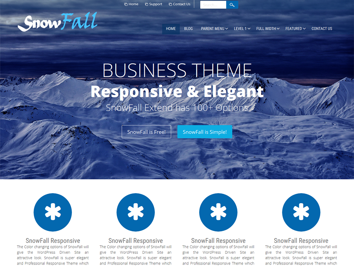 SnowFall Preview Wordpress Theme - Rating, Reviews, Preview, Demo & Download