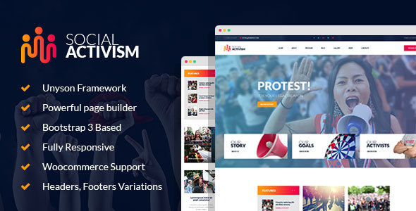 Social Activism Preview Wordpress Theme - Rating, Reviews, Preview, Demo & Download