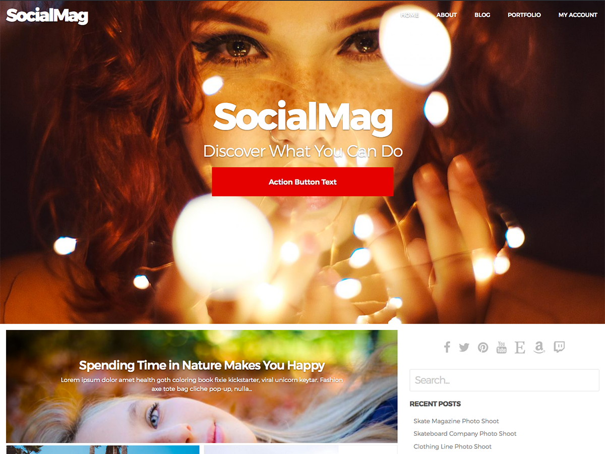 SocialMag Preview Wordpress Theme - Rating, Reviews, Preview, Demo & Download