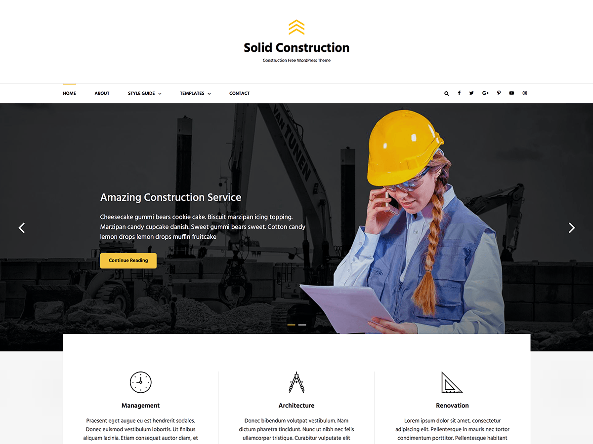 Solid Construction Preview Wordpress Theme - Rating, Reviews, Preview, Demo & Download