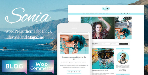 Sonia Preview Wordpress Theme - Rating, Reviews, Preview, Demo & Download