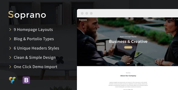 Soprano Preview Wordpress Theme - Rating, Reviews, Preview, Demo & Download
