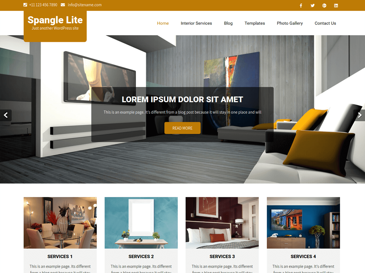 Spangle Lite Preview Wordpress Theme - Rating, Reviews, Preview, Demo & Download